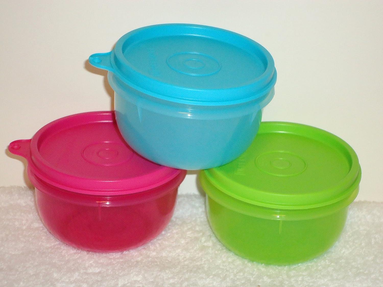 Amazon.com: Tupperware Ideal Little Kids Bowl Set 3 2014 New Colors ...
