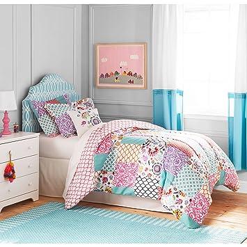 Better Homes And Gardens Kids BOHO Patchwork Bedding Comforter Set, Twin