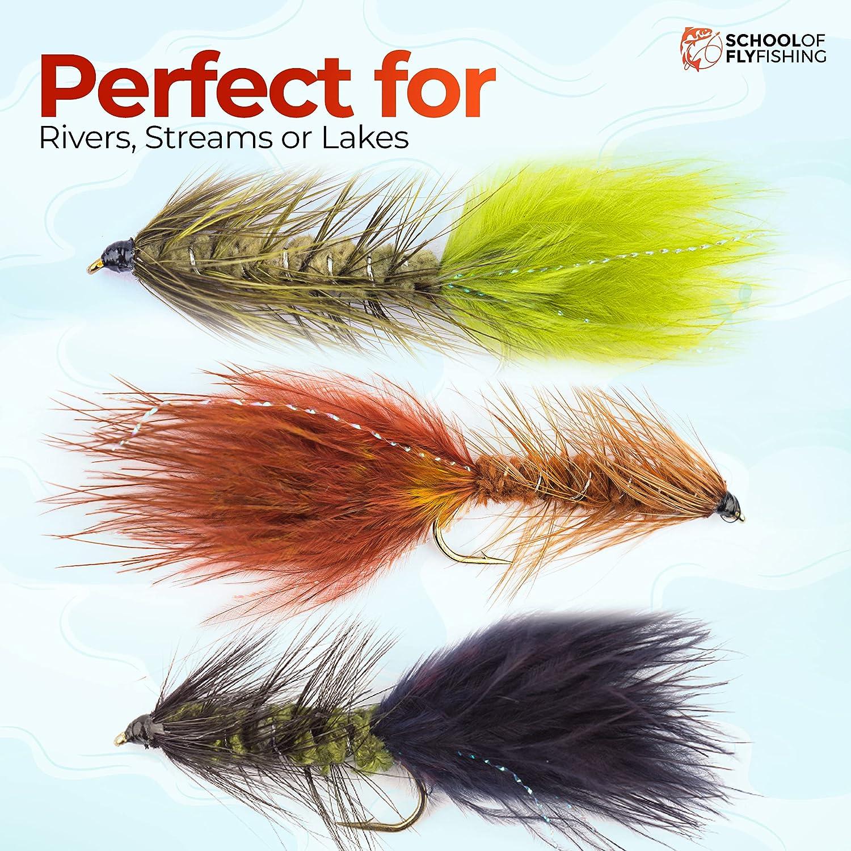 Black Woolly Bugger Size 8 fishing flies One dozen 12 Q4D