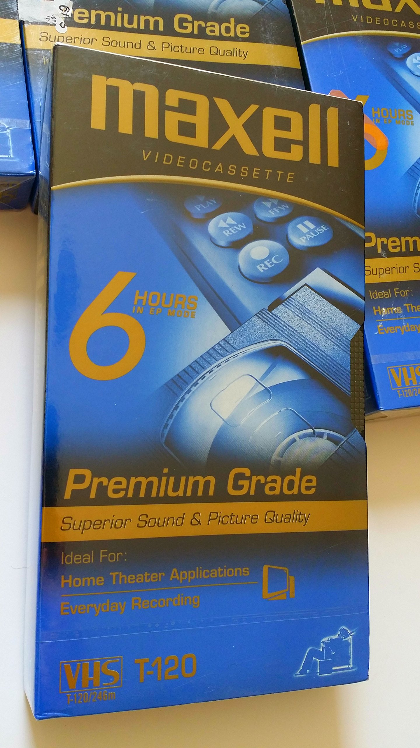 4 PACK MAXELL VHS 6 HOUR PREMIUM GRADE T-120