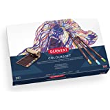 Derwent Colored Pencils, Colorsoft Pencils, Drawing, Art, Gift Set with Canvas Pencil Wrap, 24 Count (2301999)