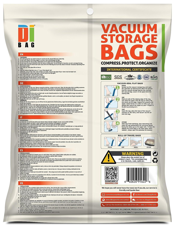 DIBAG ® 14er Set - VaKuum komprimierte Speicherung platzsparend ...