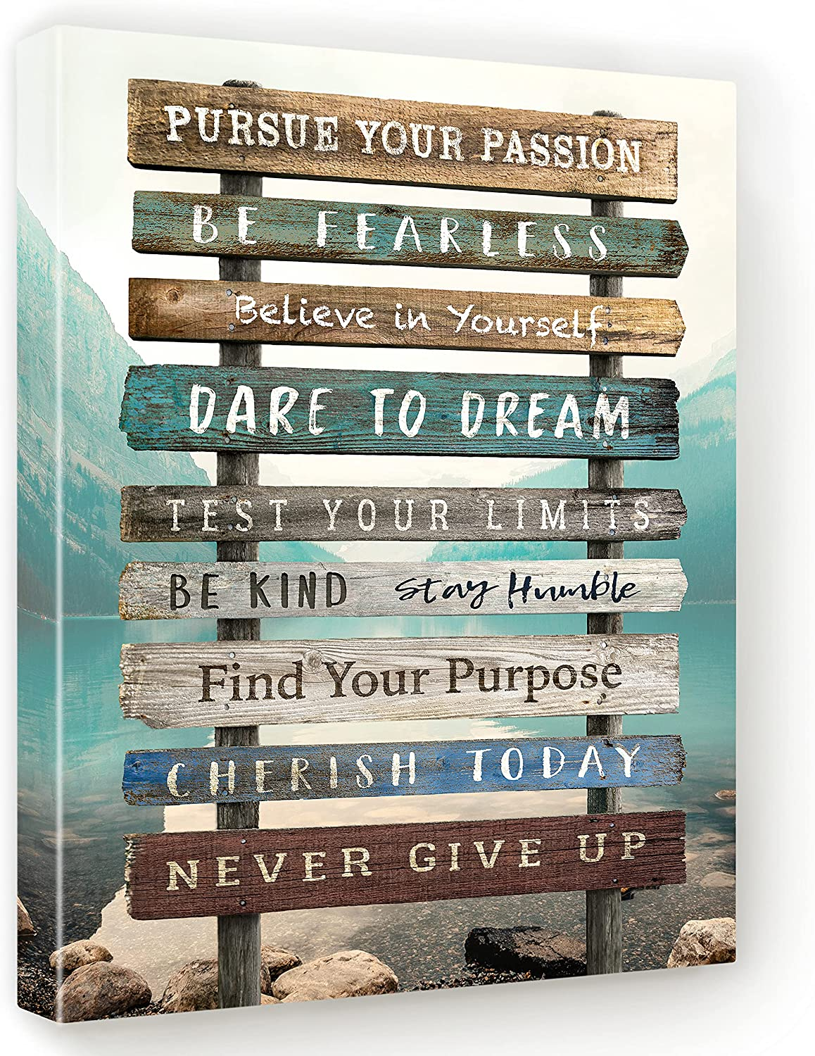 Inspirational Wall Art for Your Home Motivational Canvas decor for Office Bedroom Bathroom Living room Dorm Cubicle Positive Quotes 12x16