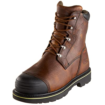 """Timberland PRO Men's 99524 Warrick 10"""" Smelter Boot, Brown/Brown, 7.5 W 