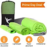 """MICROFIBER QUICK DRYING CAMPING TOWELS – 3 SIZES with 35""""x70"""" + 20''x40'' + 8''x8'' – Super Absorbent, Compact & Soft"""