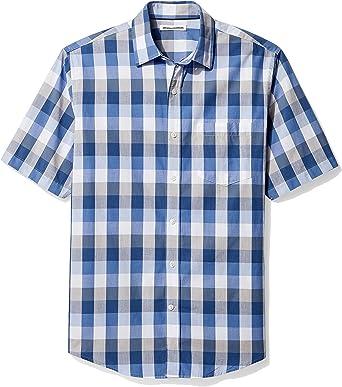 Amazon Essentials Regular-fit Short-Sleeve Plaid Shirt Hombre: Amazon.es: Ropa y accesorios