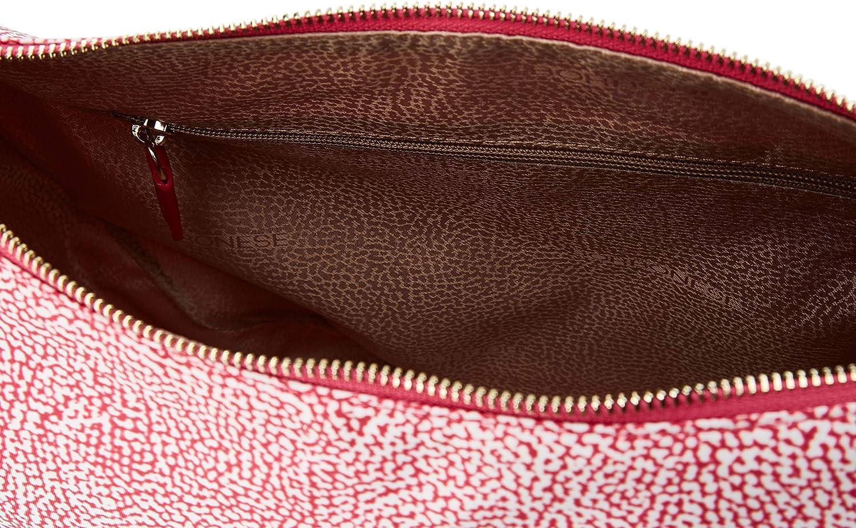 Borbonese Luna Bag, Borsa a Tracolla Donna, 35x38x15 cm (W x H x L) Rosa (Ravanello)