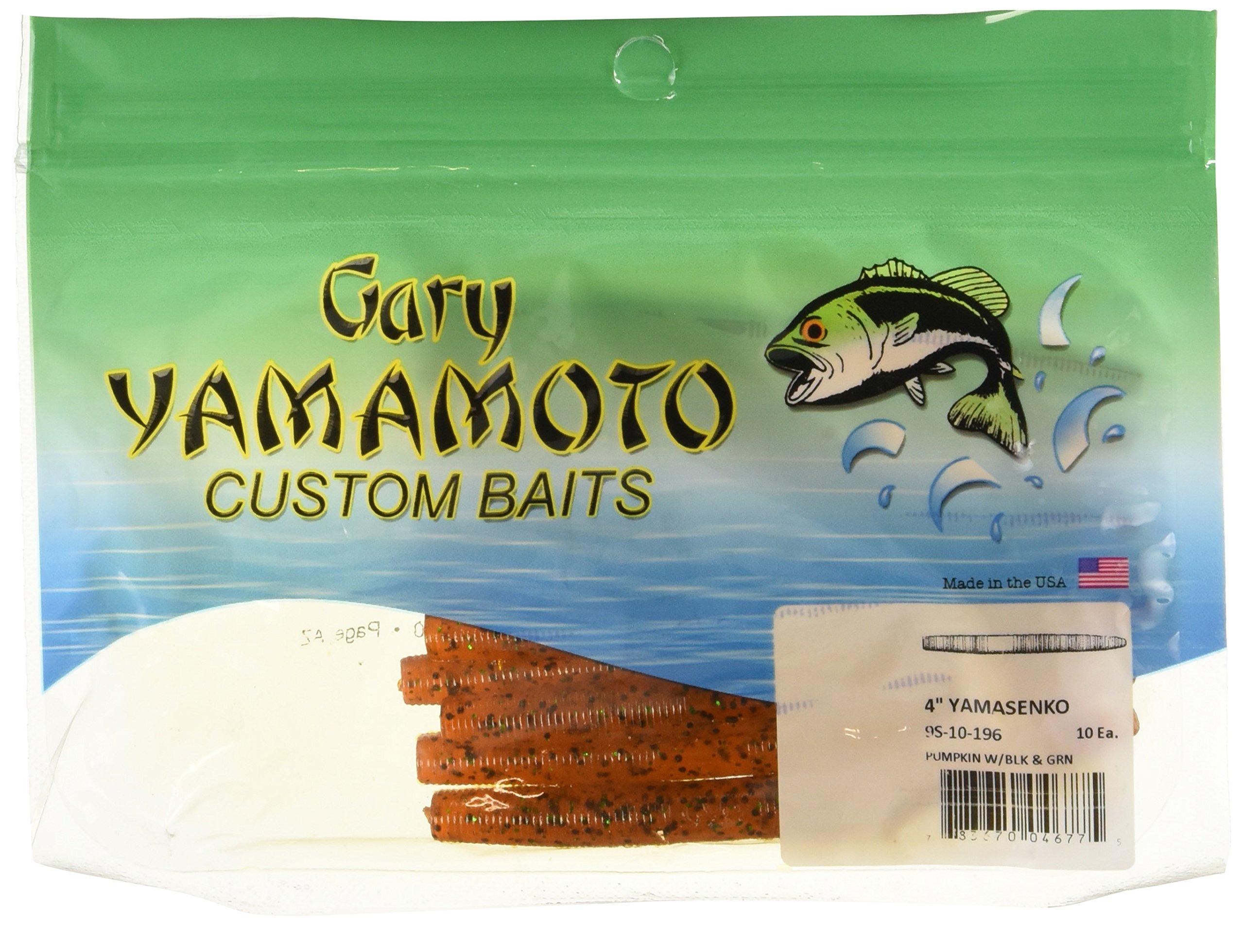 Yamamoto Slim Senko 3'', Pumpkin w/Large Black, Small Green by Yamamoto (Image #1)