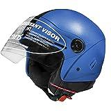 Jmd Helmets Jmd Grand Open Face Blue Color Helmet (M) Size)
