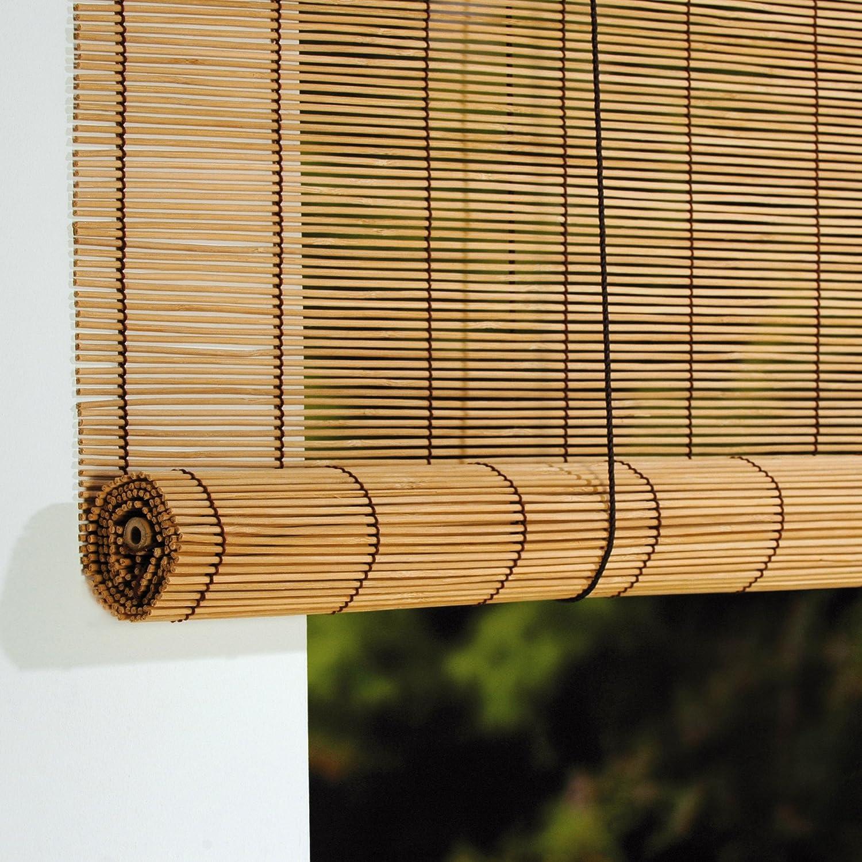 Komplett Neu Amazon.de: Rollo Bambus mit Seitenzug, Bambusrollo für Fenster und  GT26
