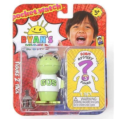 Ryan's World Pocket Watch Figure 2 Pack Series 3 - Glow Gus and Bonus Figure: Toys & Games