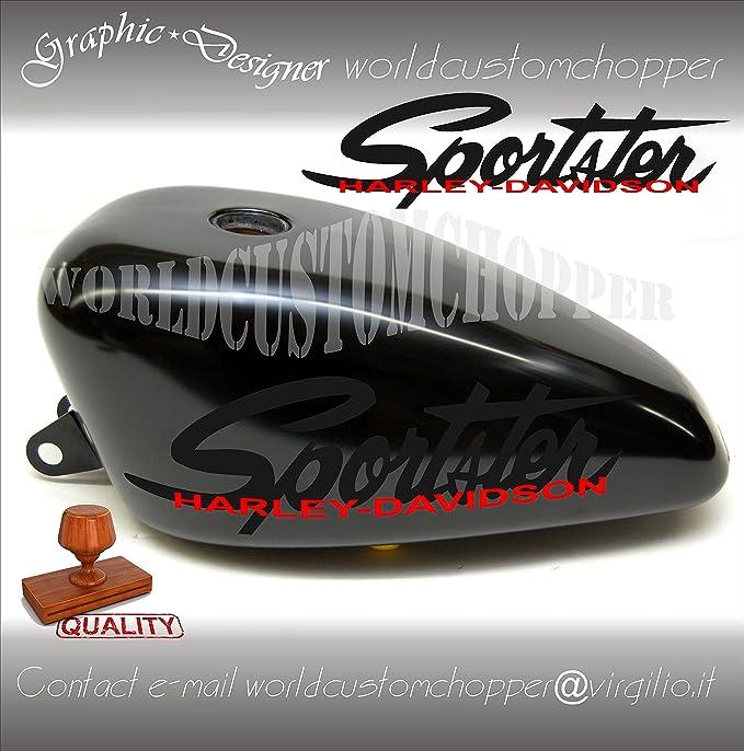 Harley Davidson Sportster Und Custom Motorrad Tank Aufkleber Aufkleber Auto