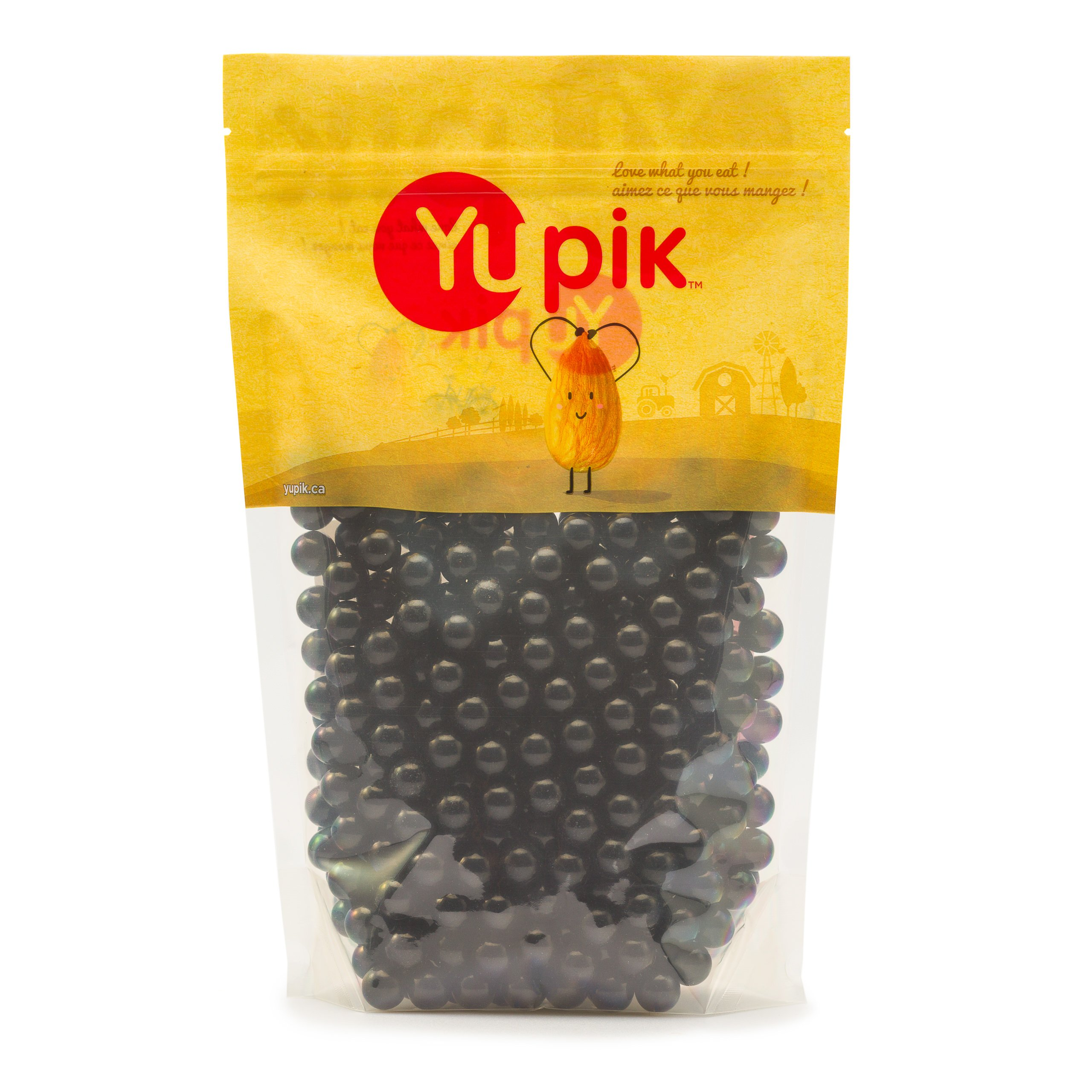 Yupik Black Licorice Jawbreakers, 1Kg/35.27 Ounces {Imported from Canada} by Yupik