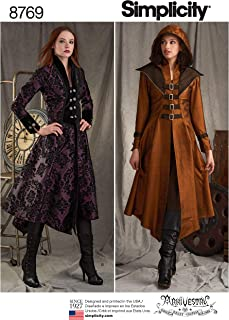product image for Simplicity 8769 Women's Medieval Cosplay and Ren Faire Costume Coat Sewing Pattern, Sizes 6-14