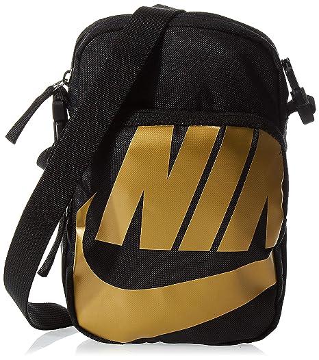 arrepentirse Día del Niño dolor de muelas  Buy Nike Polyester 8 cms Black/Black/Metallic Gold Messenger Bag ...