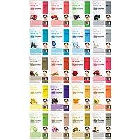 DERMAL 20 Bundle Pack Collagen Essence Full Face Facial Mask Sheet.