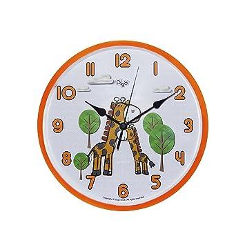 Amazoncom Child Nursery Animal Wall Clock For Kids Room SILENT - Wall clock for kids room