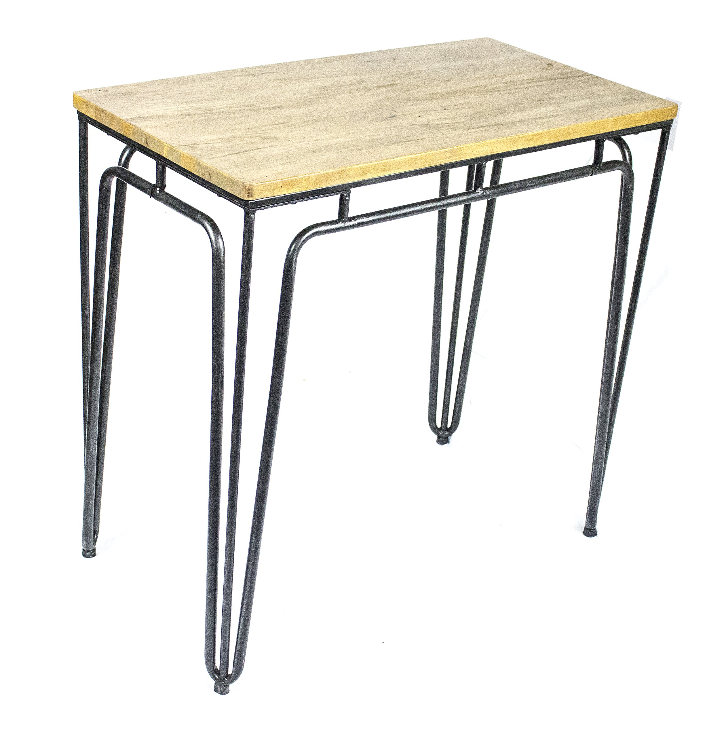 Sagebrook Home Metal Console Table W/ Natural Wood Top, Black Metal/Wood, 30.75 x 16.75 x 29 Inches - Constructed of high quality Metal/Wood. This home accent piece will brighten and liven up your room, as well as add a touch of fun and surprise to your home decor. Measures: 30.75 x 16.75 x 29 Inches. With our large range of styles, our decorative accents will give your space that extra special love to enjoy your new home furnishings. Color: Black. The color of this beautiful and lovely home decoration is very unique and will iluminate any room. - living-room-furniture, living-room, console-tables - 912K6vkRFxL -