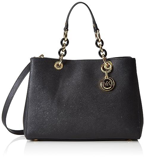 4a0b2bbe914ca Michael Kors Women s Cynthia Shoulder Bag Black Schwarz (Black 001)   Amazon.co.uk  Shoes   Bags