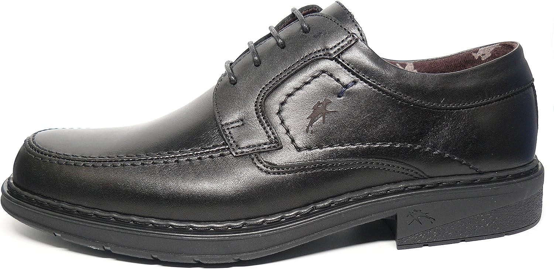 Zapatos Hombre con Cordones FLUCHOS - Piel Color Negro - 9482-83