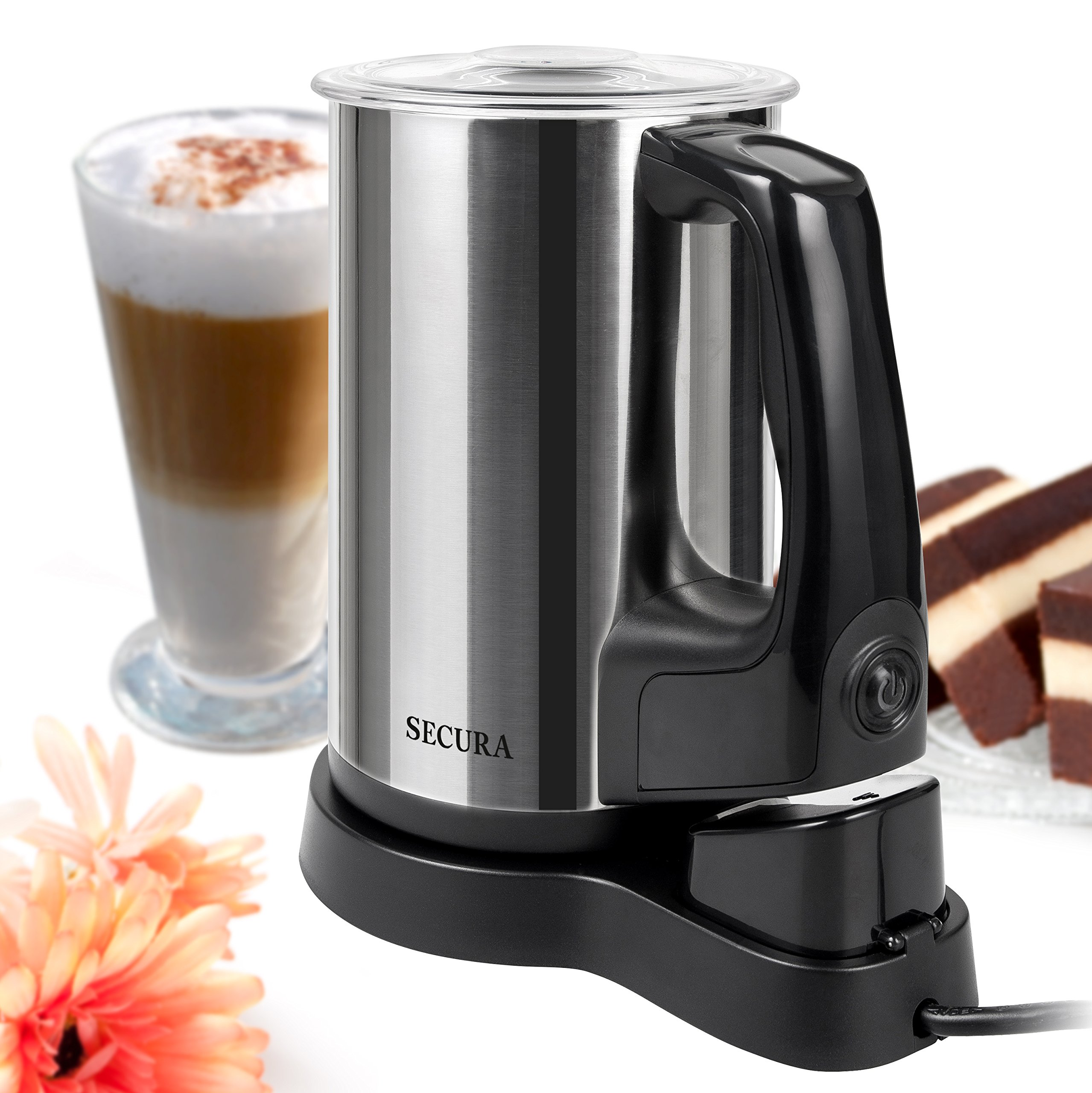 Secura Automatic Electric Milk Frother and Warmer, 8.45 oz Stainless Steel Milk Steamer by Secura (Image #1)