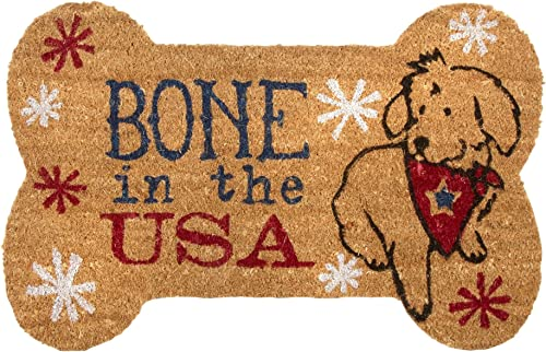Bone in the USA Coir Doormat 18 x 28 inches