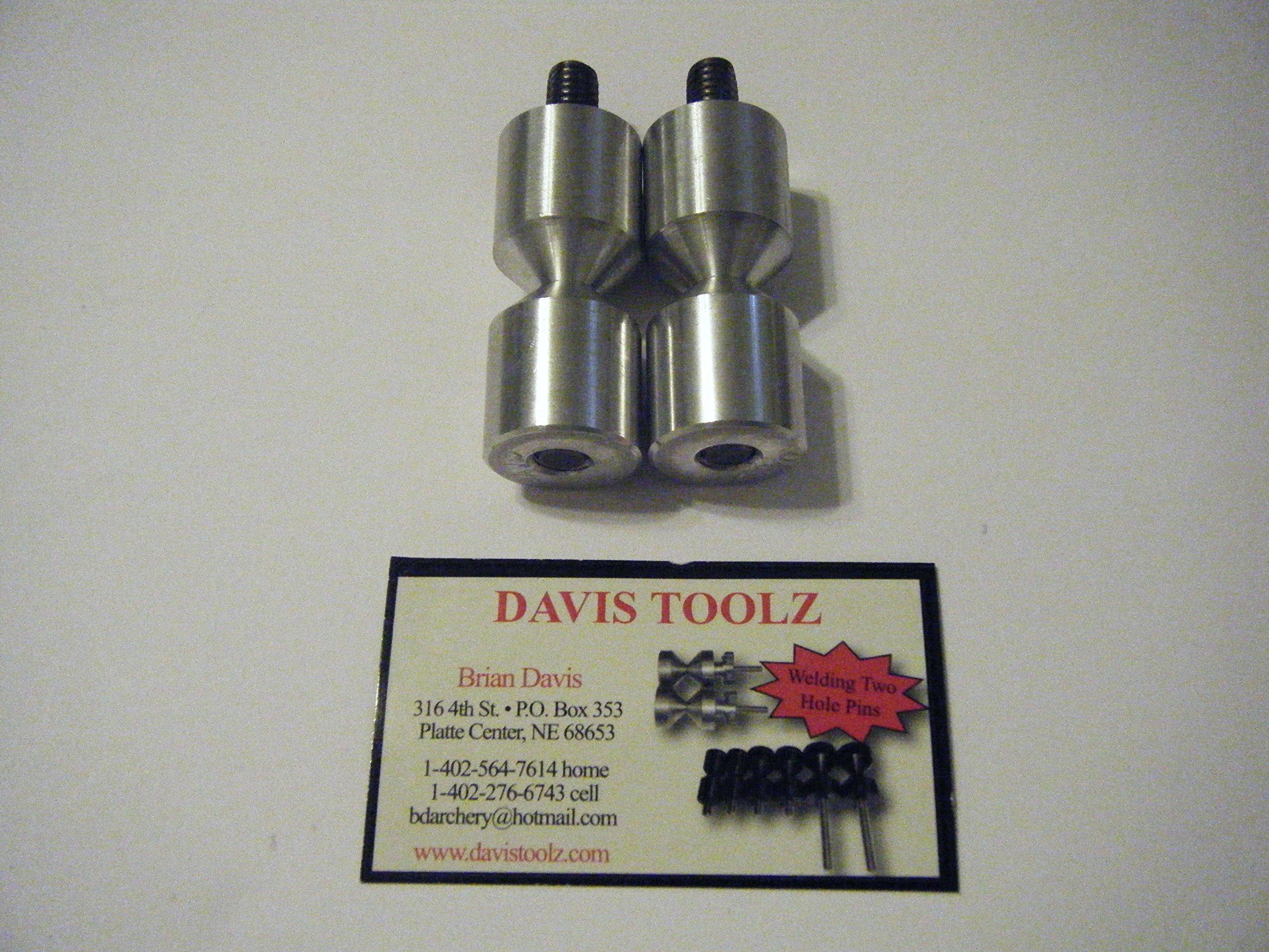 Davis 1'' Alum. two hole pins