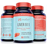 Liver 911 Cleanse & Detox Support Supplement #1 Detoxifier & Regenerator - Best Natural Blend Silymarin Milk Thistle Extract, Chanca Piedrea, Beet, Artichoke, Dandelion, Chickory Root Veggie Capsules