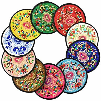 Amazon Absorbent Coasters For Drinks Vintage Ethnic Floral