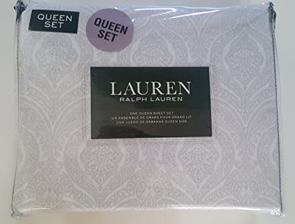Amazon Com Lauren Ralph Lauren Queen Size Sheet Set Medallion