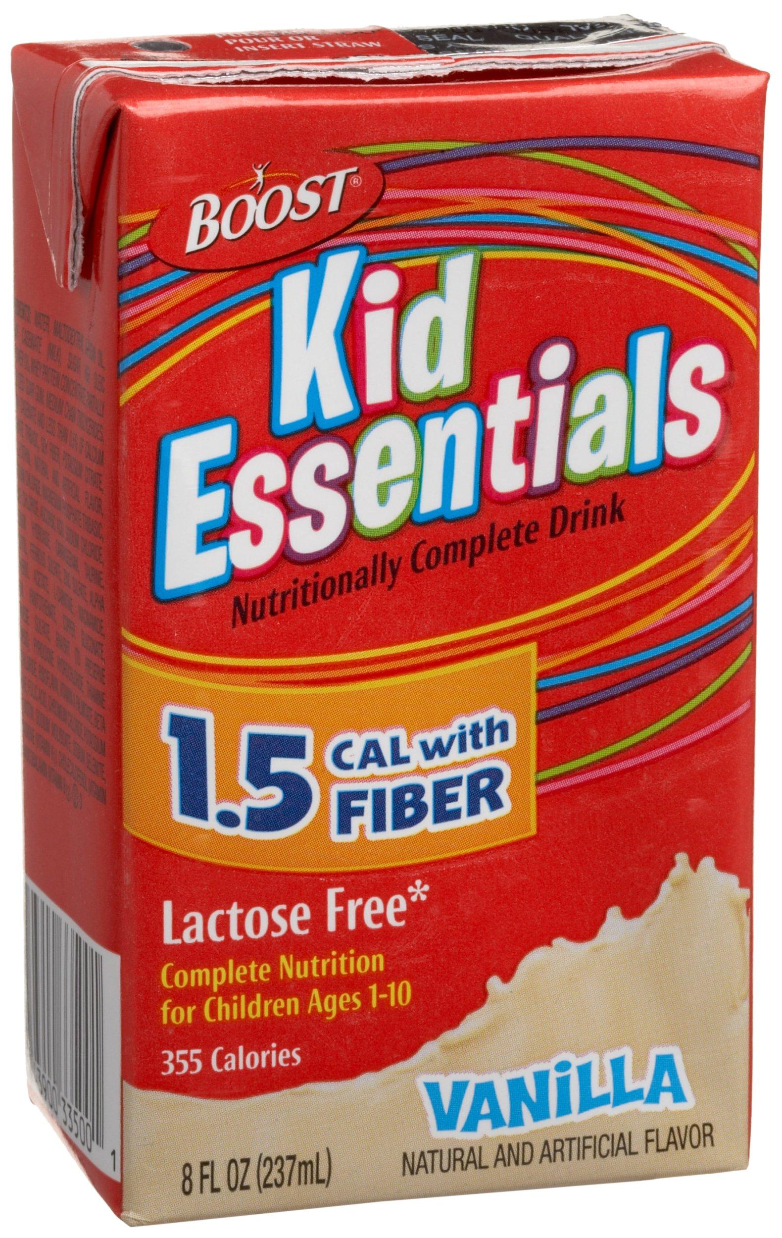 Boost Kid Essentials 1.5 Nutritionally Complete Drink, Vanilla Vortex, 8 Ounce, Pack of 27 by Boost Kids Essentials (Image #2)