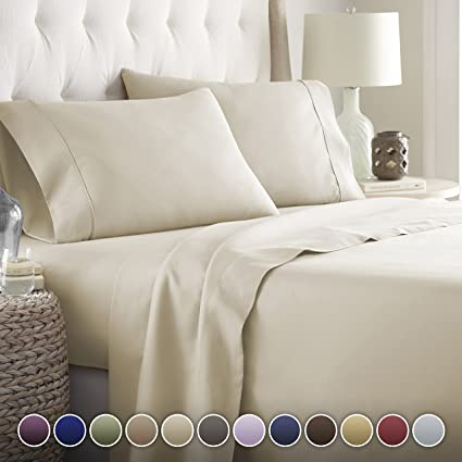 Hotel Luxury Bed Sheets Set   1800 Series Platinum Collection Deep Pocket,  Wrinkle