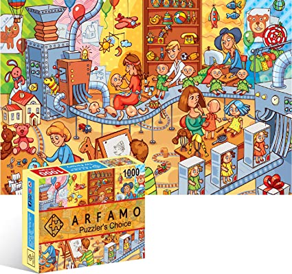 Romantic Town Arfamo Puzzles for Adults 1000 Piece Jigsaw Puzzles Landscape New Puzzle Game DIY Mural Educational Game Toys Gift