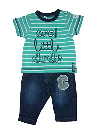 Baby Boy Clothing Outfit Top And Jeans Cool Little Dude 6 9 Months