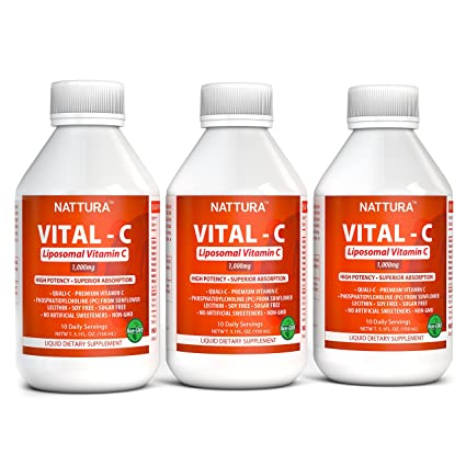 Vitamina C Liposomal* Quali-C Europeo con Fosfatidilcolina de Lecitina de Girasol, Sin
