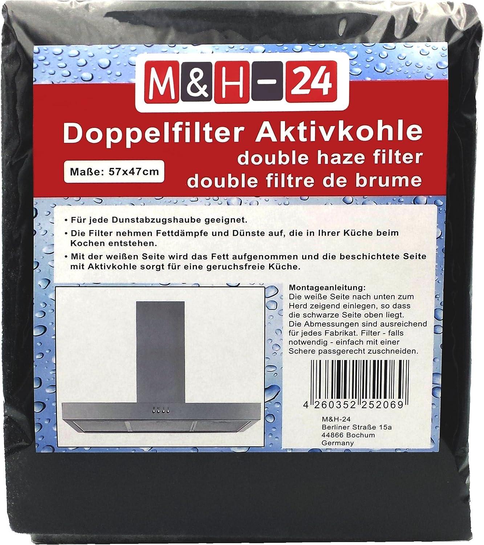 M&H-15 Filtro Campana Extractora Universal con Carbón Activo - Juego de  Filtro de Carbono Activo y de Grasa, Filtro Universal para Cualquier Tipo  de
