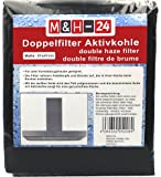 M&H-24 filtre à charbon actif pour hotte aspirante de 60cm, filtre combiné de 57x 47cm pouvant être découpé, noir 1 Noir