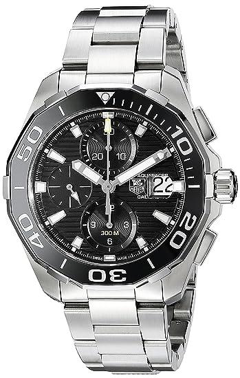 TAG HEUER AQUARACER RELOJ DE HOMBRE AUTOMÁTICO CORREA DE ACERO CAY211A.BA0927: Amazon.es: Relojes