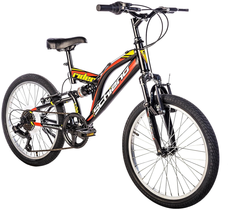 F.lli Schiano Rider - Bicicleta Biamortiguada, Color Blanco/Rojo, 20 20 29020