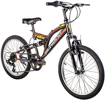 """F.lli Schiano Rider Bicicleta Biamortiguada, Hombre, Negro/Rojo, 20"""""""