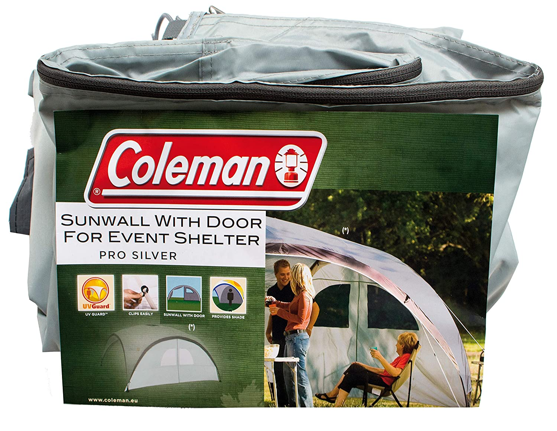 4.5 x 4.5 m Impermeable Alta Protecci/ón Solar 50+ Coleman Event Shelter Pro XL Panel Lateral con Ventanas y Puerta para Carpa