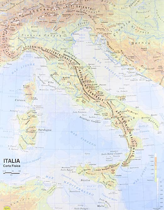 Cartina Fisica Mediterraneo.Carta Geografica Italia 1 800 000 Aa Vv Amazon It Cancelleria E Prodotti Per Ufficio