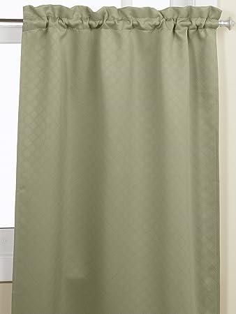 Curtains Ideas 36 inch tier curtains : Amazon.com: Lorraine Home Fashions Facets Room Darkening Blackout ...