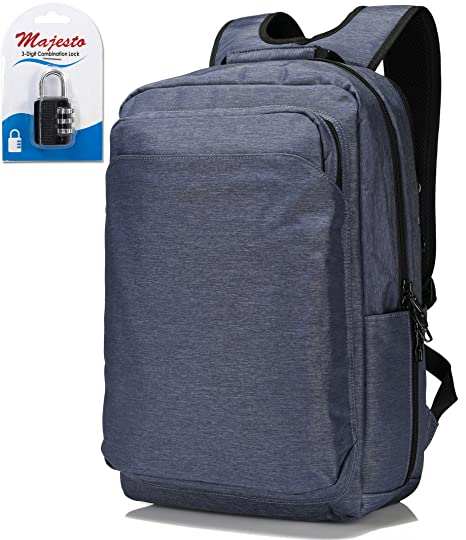 acaa971df93 Business Laptop Backpack for 14 Inch Notebook for Travel and Commute with  Bottle Holders and Lots