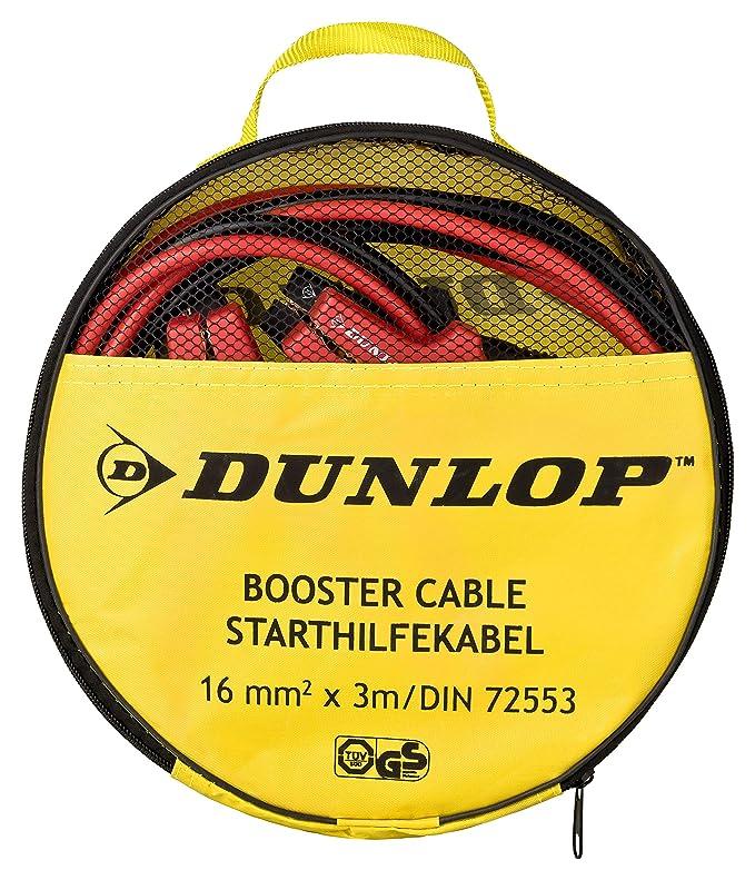 GS gepr/üfte Sicherheit| inkl Dunlop Starthilfekabel 12V // 24V 3m L/änge verwicklungsfreies /Überbr/ückungskabel Querschnitt 16mm/² Aufbewahrungstasche Vollisolierte Polklemmen| nach DIN 72553