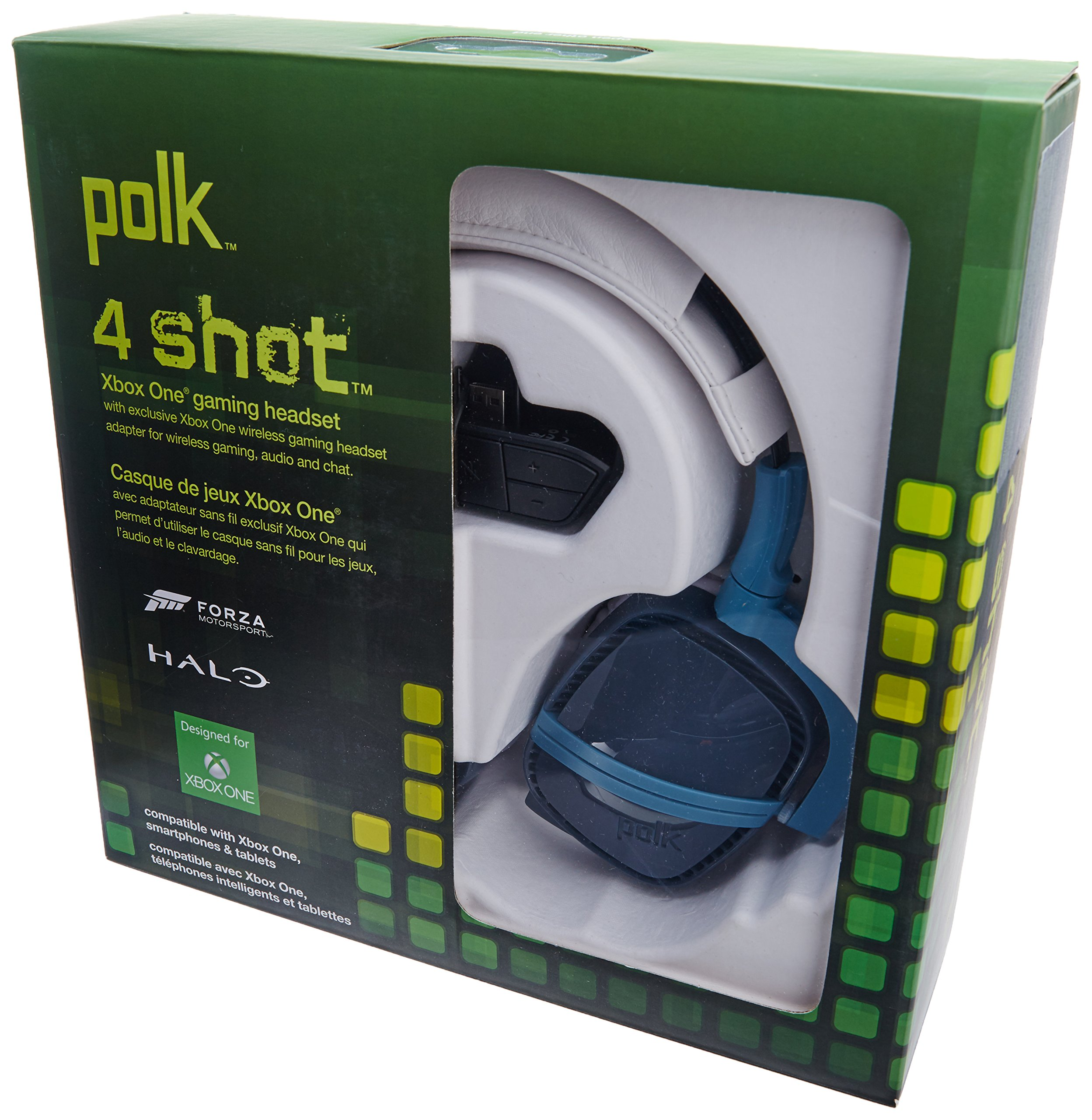 Polk Audio 4Shot Headphone - Blue - Xbox One