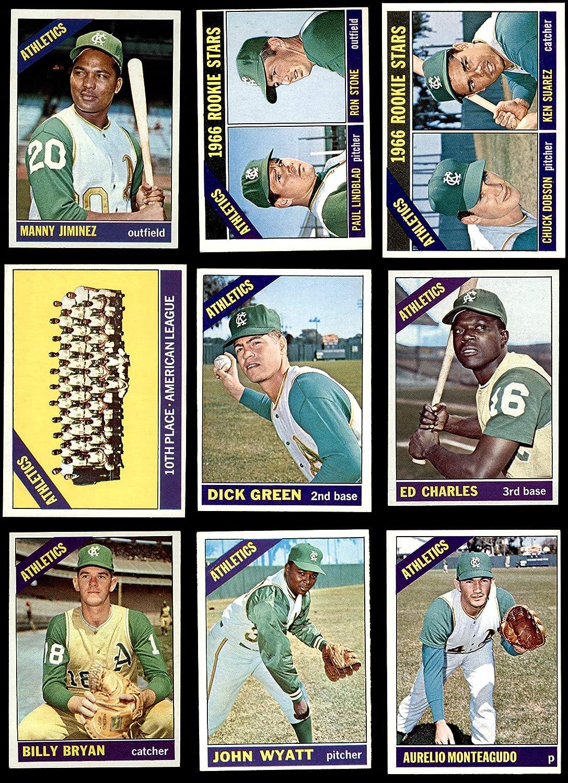 1966 Topps Kansas City Athletics (A's) Team Set Kansas City Athletics (Baseball Set) Dean's Cards 6 - EX/MT Athletics 912LAVDtNlLSL1500_
