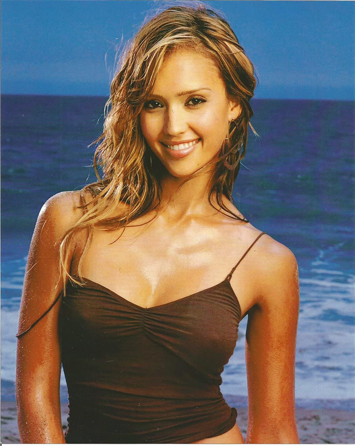 Jessica Alba Into The Blue Tight Tank Top 8 X 10 Photo 004 At Amazon S Entertainment Collectibles Store