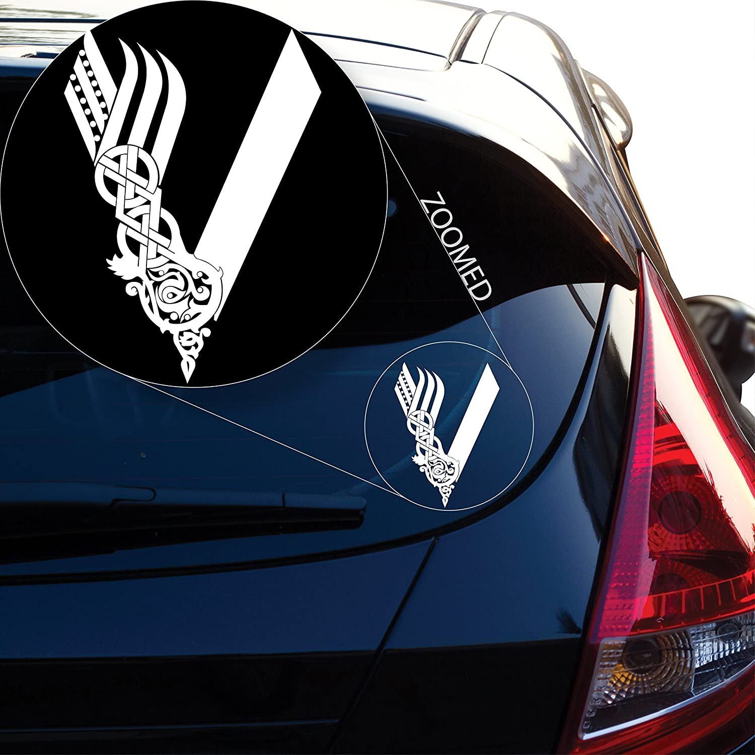 Vikings Tv Show Decal Sticker For Car Window Laptop And More 813 8 X 57 White