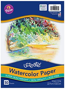UCreate 50-Sheets Watercolor Paper